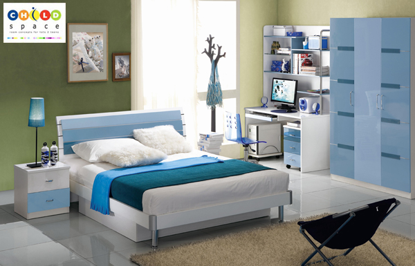 Bedroom units double bunk beds kids room ideas child - Couleur chaude pour une chambre ...
