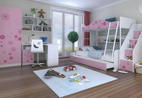 FLORAL BUNK BED FULL ROOM